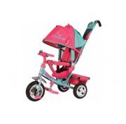 Детский трехколесный велосипед TRIKE Beauty, B2MP, розово-бирюзовый ПВХ колеса 10/8