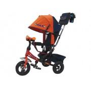 Детский трехколесный велосипед TRIKE Travel с надувными шинами TTA2O, оранжевый, 10/8