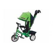 Детский трехколесный велосипед TRIKE Travel TT2G, сине-зеленый, ПВХ колеса 10/8