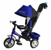 Детский трехколесный велосипед TRIKE Travel TT2B, Сине-черный, ПВХ колеса 10/8