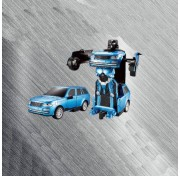 1toy Робот на р/у 2,4GHz, трансформирующийся в джип, 20 см, синий Т10865