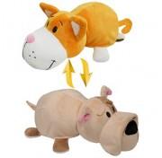 Мягкая игрушка Вывернушка 35 см 2в1  Оранжевый кот - Бульдог  Т10926 1TOY
