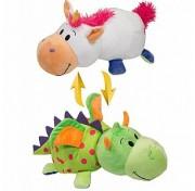 Мягкая игрушка Вывернушка 35 см 2в1 Единорог - Дракон Т10927 1TOY