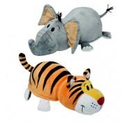 Мягкая игрушка Вывернушка 40 см 2в1 Тигр- Слон Т10931 1TOY