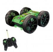 Hot Wheels трюковая машина-перевёртыш на р/у, 27MHz, вращение на 360°, с АКБ, чёрно-зелёная Т10978