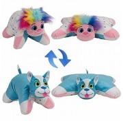 Мягкая игрушка подушка Вывернушка 55 см 2в1 Радужный Тролль-Блестящий Щенок Т12041 1TOY