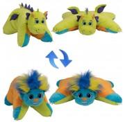 Мягкая игрушка подушка Вывернушка 55 см 2в1 Разноцветный Тролль-Салатовый Дракон  Т12044 1TOY
