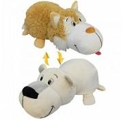 Мягкая игрушка Вывернушка 40 см 2в1 Бежевый хаски - Полярный медведь Т12332 1TOY