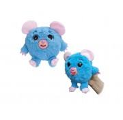 Игрушка 1 TOY Дразнюка-Zoo плюшевая голубая мышка показывает язык 13см Т10350