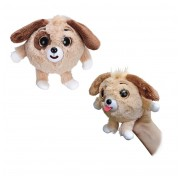 Игрушка 1 TOY Дразнюка-Zoo плюшевая коричневая собачка показывает язык 13см Т10349