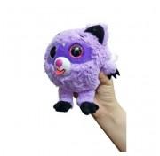 Игрушка 1 TOY Дразнюка-Zoo плюшевый фиолетовый енот показывает язык 13см Т10353