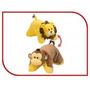 Мягкая игрушка подушка Вывернушка 55  см 2в1  Лев - Обезьянка Т12042 1TOY