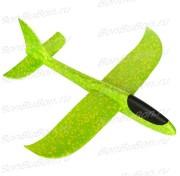 Светящийся планер самолетик из пенопласта 48 см -  зеленый