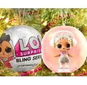 Кукла ЛОЛ Блинг блестящие Новогодний шар, новогодняя серия, LOL Surprise Original  Bling Series