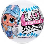 Шар сюрприз Кукла ЛОЛ Спортивная серия блестящие 570370 LOL Surprise All Star B.B.s Sports Series 1 Baseball Sparkly Dolls