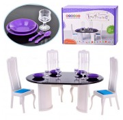 Игровой набор мебели для столовой Конфетти С-1332 Огонек