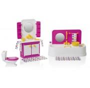 Игровой набор мебели для кукол Ванная комната Зефир С-1407 завод Огонек ОГ1407