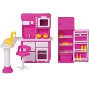 Игровой набор мебели для кукол Кухня Зефир С-1409 завод Огонек ОГ1409