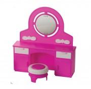 Игровой набор мебели для кукол Трюмо с пуфом Зефир С-1467 завод Огонек ОГ1467