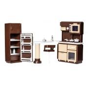 Набор мебели Кухня Коллекция C-1298 для кукольного домика Огонек