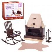 Набор кукольной мебели для каминной комнаты Коллекция С-1301 Огонек
