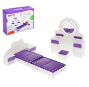 Спальня игрушечная Конфетти С-1331 кукольная мебель Огонек