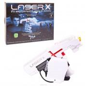 Игровой набор для домашнего лазертага Laser X для одного игрока (бластер и мишень) 88011