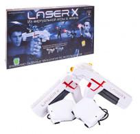 Игровой набор для домашнего лазертага Laser X для двух игроков (2 бластера и 2 мишени) 88016