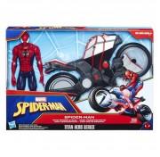 Игровой набор фигурка 30см Человека-Паука и мотоцикл B9767 Hasbro Spiderman Spider Cycle