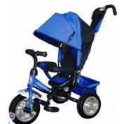 Трехколесный велосипед для детей Formula-3 с ручкой, капюшоном (большие надувные колеса 12/10)