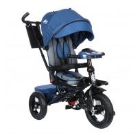 Детский трехколесный велосипед SAFARI Trike GT9478, поворотное сиденье, фара, надувные колеса 12/10, синий