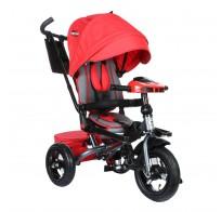 Детский трехколесный велосипед SAFARI Trike GT9479, поворотное сиденье, фара, надувные колеса 12/10, красный