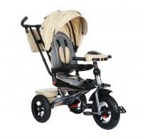 Детский трехколесный велосипед SAFARI Trike GT9481, поворотное сиденье, фара, надувные колеса 12/10, бежевый