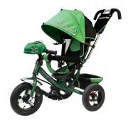 Велосипед трехколесный Lexus Trike зеленый с фарой большими колесами 12/10