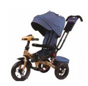 Детский трехколесный велосипед Super Formula с ручкой SFA3BJ, надувные колеса 12/10, с поворотным сиденьем на 180 градусов