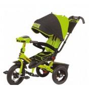 Детский трехколесный велосипед Super Formula с ручкой SFA3G, надувные колеса 12/10, с поворотным сиденьем на 180 градусов