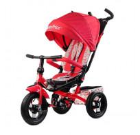 Трехколесный велосипед Fisher Price HF9 с поворотным сиденьем, красный, надувные колеса 12/10