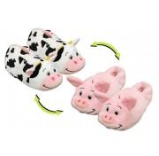 Детские тапки-вывернушки Вывертапки Корова-Свинья размер 31-33 1TOY Т13961